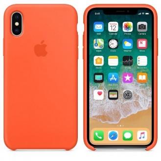 iPhone XS Max Silikon Case Orange