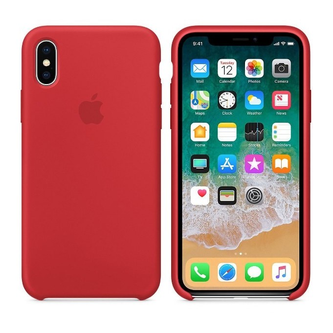 iPhone XR Silikon Case Rot