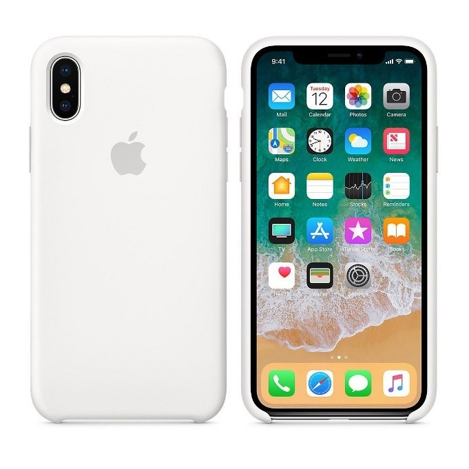 iPhone XR Silikon Case Weiss