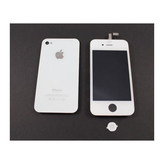 iPhone 4 Umbau Komplett Set / Reparatur Set in Weiss