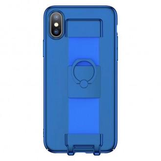 iPhone XS,X Befestigung Case Blau