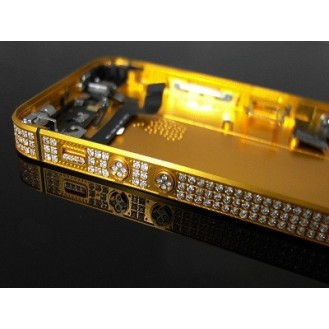 iPhone 5S Backcover Middle Frame Akkudeckel Bling Gold  A1453, A1457, A1518, A1528, A1530, A1533