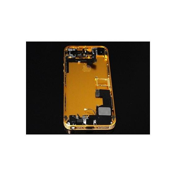 iPhone 5S Backcover Middle Frame Akkudeckel Bling Gold