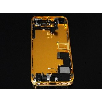 iPhone 5S Backcover Middle Frame Akkudeckel Bling Gold