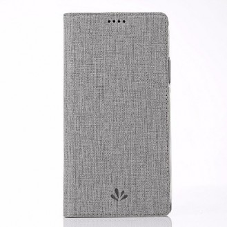 Huawei Mate 20 Pro Vili Leder Hülle Etui Grau