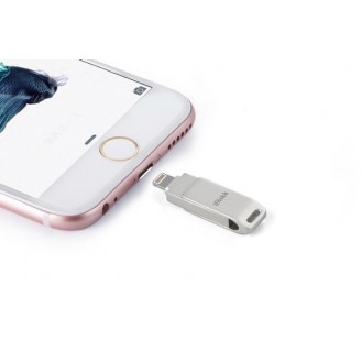 iDiskk Mini USB 2.0 Speicher Stick für Apple iPhone, iPad, iPod 32GB Silber, OVP