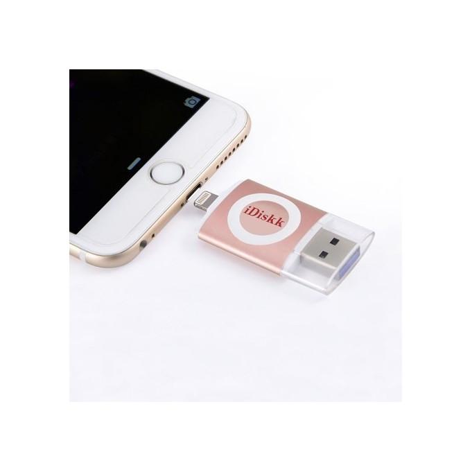 iDiskk USB 3.0 Speicher Stick für Apple iPhone, iPad, iPod OVP Rose Gold ( 32 GB )
