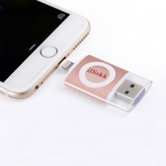 iDiskk USB 3.0 Speicher Stick für Apple iPhone, iPad, iPod OVP Rose Gold ( 64 GB )