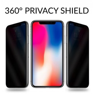 Privacy 9H Panzerglas Tempered Folie iPhone X, XS