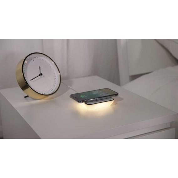 Nachtlicht LED Wireless Charger weiss
