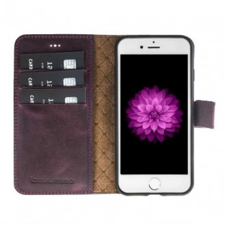Bouletta Echt Leder Magic Wallet iPhone 7/8 Lila