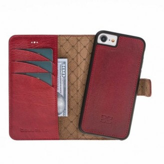 Bouletta Echt Leder Magic Wallet iPhone 7/8 Weinrot