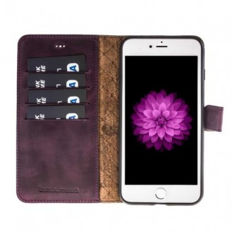 Bouletta Echt Leder Magic Wallet iPhone 7/8 Plus Lila