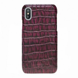 Bouletta Echt Leder Case iPhone X Ultimate Jacket Croco Braun