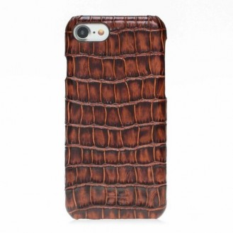 Bouletta Echt Leder Case iPhone 7/8 Ultimate Jacket Croco Braun