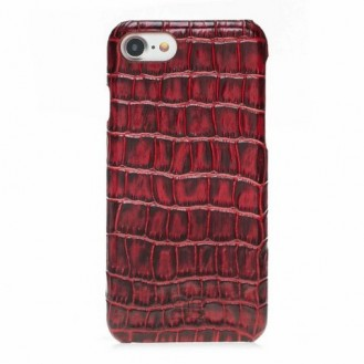Bouletta Echt Leder Case iPhone 7/8 Ultimate Jacket Croco Rot