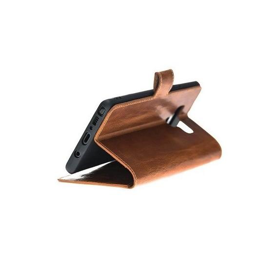 Bouletta Echt Leder Note 9 Book Wallet Braun