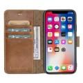 Bouletta Echt Leder Iphone XR Book Wallet Braun