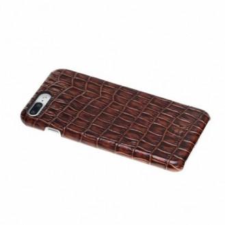 Bouletta Echt Leder Case iPhone 7/8 Plus Ultimate Jacket Croco Braun