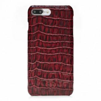 Bouletta Echt Leder Case iPhone 7/8 Plus Ultimate Jacket Croco Rot