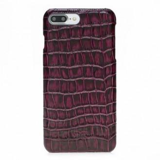 Bouletta Echt Leder Case iPhone 7/8 Plus Ultimate Jacket Croco Purple
