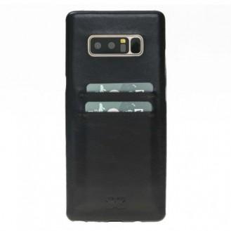 Samsung Note 8 Bouletta Echt Leder Ultra Cover CC Schwarz