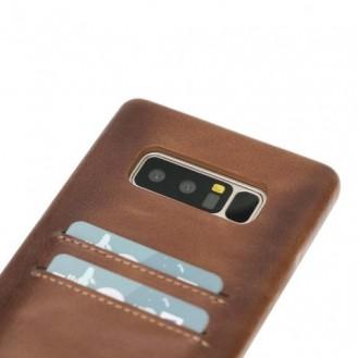 Samsung Note 8 Bouletta Echt Leder Ultra Cover CC Braun