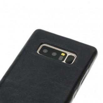 Samsung Note 8 Bouletta Echt Leder Ultra Cover Schwarz
