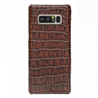 Samsung Note 8 Bouletta Echt Leder Case Ultimate Jacket Croco Braun