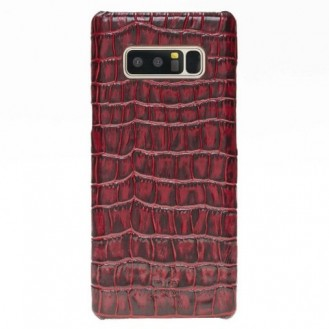 Samsung Note 8 Bouletta Echt Leder Case Ultimate Jacket Croco Rot