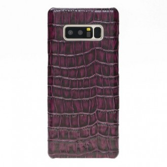 Samsung Note 8 Bouletta Echt Leder Case Ultimate Jacket Croco Purple