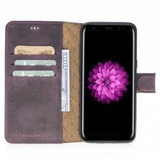 Samsung Galaxy S8 Bouletta Echt Leder Magic Wallet Lila