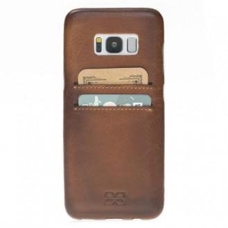 Samsung Galaxy S8 Bouletta Echt Leder Ultra Cover CC Braun