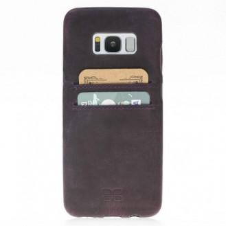 Samsung Galaxy S8 Bouletta Echt Leder Ultra Cover CC Lila