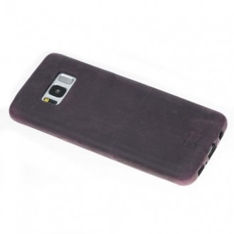 Samsung Galaxy S8 Bouletta Echt Leder Ultra Cover Lila