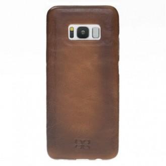Samsung Galaxy S8 Bouletta Echt Leder Ultra Cover Braun