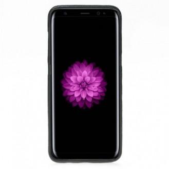 Samsung Galaxy S8 Bouletta Echt Leder Ultra Cover Schwarz
