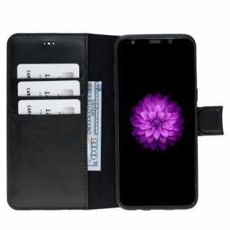 Samsung Galaxy S8 Plus Bouletta Echt Leder Magic Wallet Schwarz