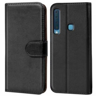 Galaxy A9 2018 Book Case Wallet Tasche Schwarz