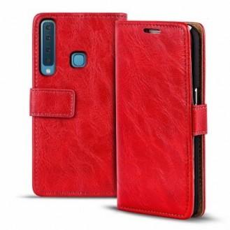 Galaxy A9 Book Case Wallet Tasche Schwarz