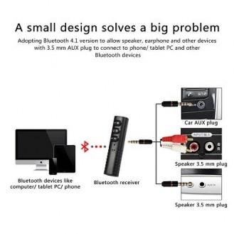Auto Mini Audio Receiver Bluetooth 4,1 Konverter 3,5 mm