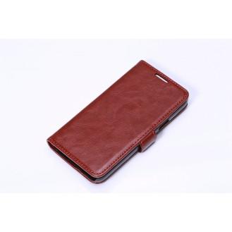 Leder Kreditkarte Etui Galaxy S5 Mini Braun