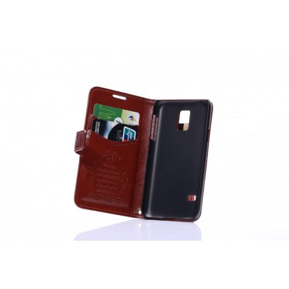Leder Kreditkarte Etui Galaxy S5 Mini Türkis