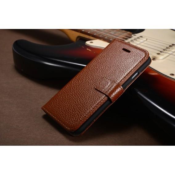 Braun Echt Leder Kreditkarte Etui iPhone 6 4,7