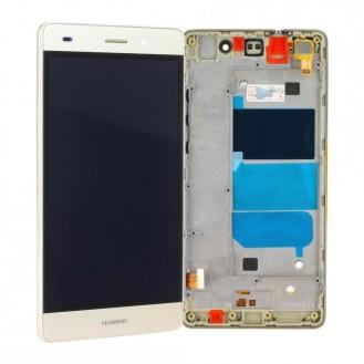 Huawei P8 Lite LCD Display Gold mit Displayrahmen