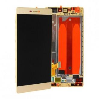 Huawei P8 LCD Einheit mit Displayrahmen Gold