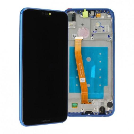 Huawei P20 lite LCD Einheit mit Displayrahmen Blau