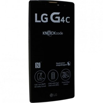 LG G4c (H525N) Komplett LCD+Frontcover Schwarz Gold mit Displayrahmen