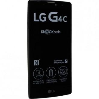 LG G4c (H525N) Komplett LCD+Frontcover Schwarz/Weiss mit Displayrahmen