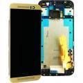 HTC One M9 LCD Komplett Einheit, inkl Displayrahmen Gold